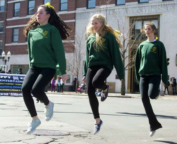 Irish dancers perform during Saturday's Saint Patrick's Day parade in Stamford, Conn., on March 9, 2013. Photo: Lindsay Perry / Stamford Advocate