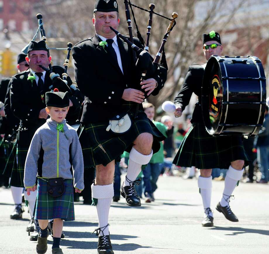 Bagpipers perform during Saturday's Saint Patrick's Day parade in Stamford, Conn., on March 9, 2013. Photo: Lindsay Perry / Stamford Advocate