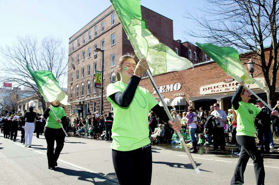 Saturday's Saint Patrick's Day parade in Stamford, Conn., on March 9, 2013. Photo: Lindsay Perry / Stamford Advocate
