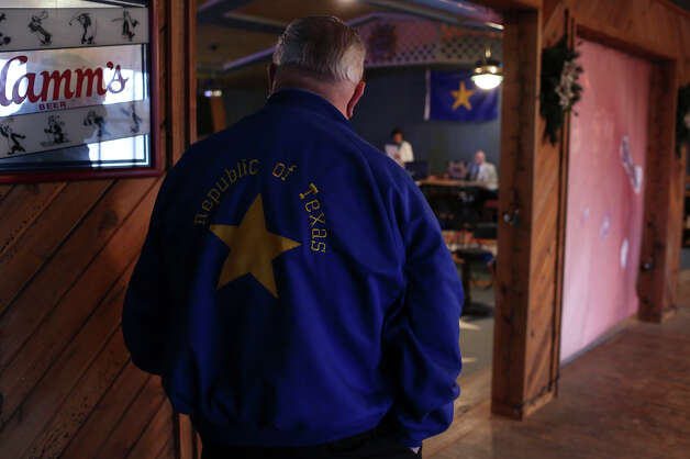 Members of the Republic of Texas government, other members and guests attend their monthly meeting at the Silver Eagle Taphouse in McQueeney on Saturday, Feb. 9, 2013. Photo: Lisa Krantz, San Antonio Express-News / San Antonio Express-News