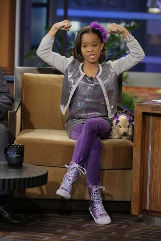 But Oscar nominee Quvenzhane Wallis looked cuter doing it on the Jay Leno show in January.