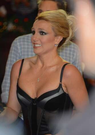 More Britney face at the ''The X Factor'' season finale.