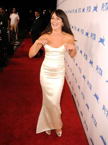 Or the strapless dress. (Lea Michele in Los Angeles).
