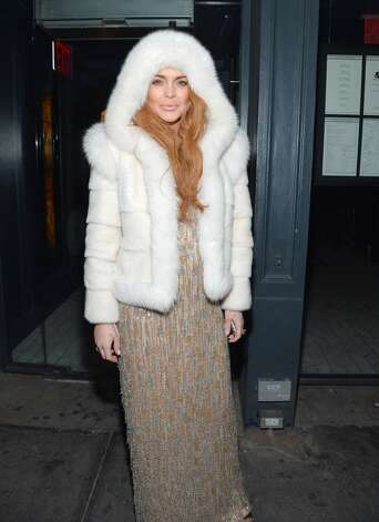 Or the marshmallow topping. (Lindsay Lohan in New York City, 2013).