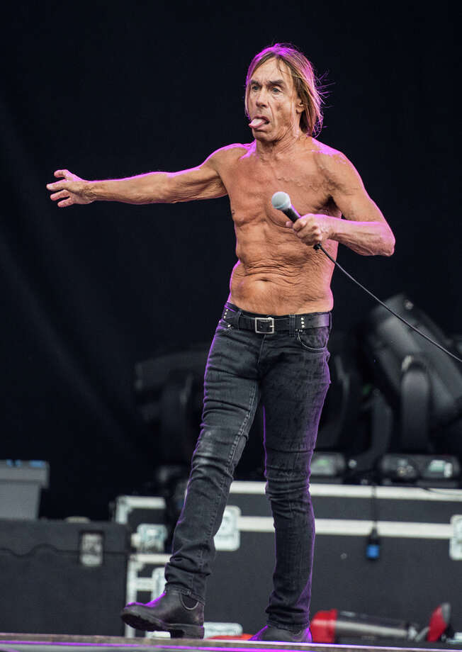 Or the lack of top. (Iggy Pop, 2012).  Photo: Classic Rock Magazine / 2012 Future Publishing