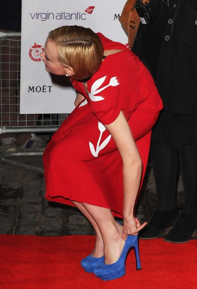 Shoes can be problematic. (Carey Mulligan in London, 2012).