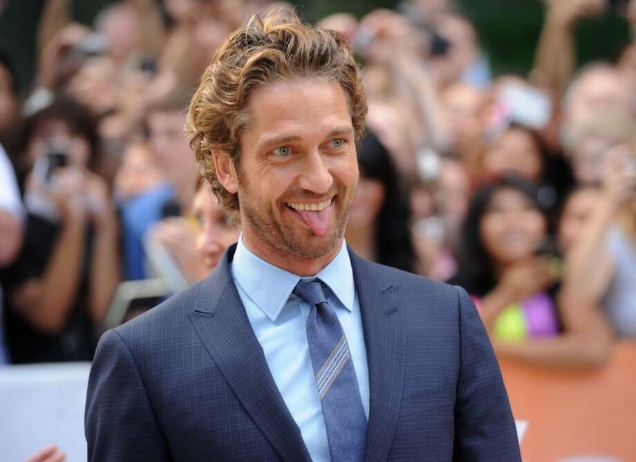 Sometimes the tongue gets publicity, too. (Gerard Butler at the premiere of ''Machine Gun Preacher,'' 2011).