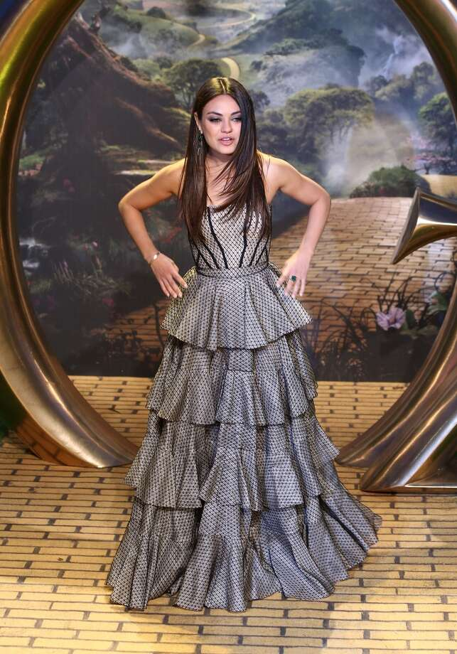 Almost ready. (Mila Kunis at the premiere of ''Oz: The Great and Powerful,'' 2013).