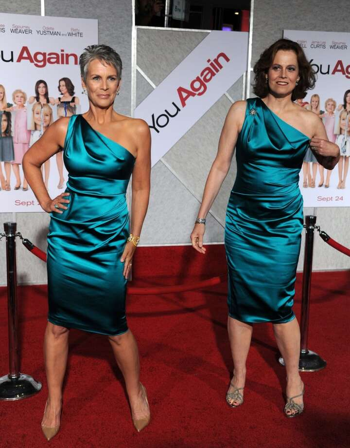 Sometimes you look great and someone comes along and ruins it. (Jamie Lee Curtis, left, and Sigourney Weaver at the premiere of ''You Again,'' 2010).