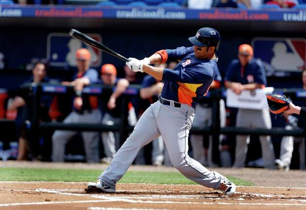 Carlos Pena hits a home run in the loss. Photo: Jeff Roberson
