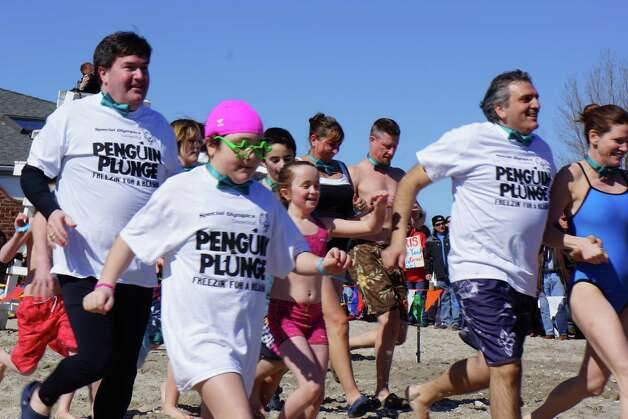 Were you SEEN at the Penguin Plunge Saturday? Compo Beach Westport for the Special Olympics 3/9/2013 Photo: Todd Tracy/ Hearst Connecticut Media Group