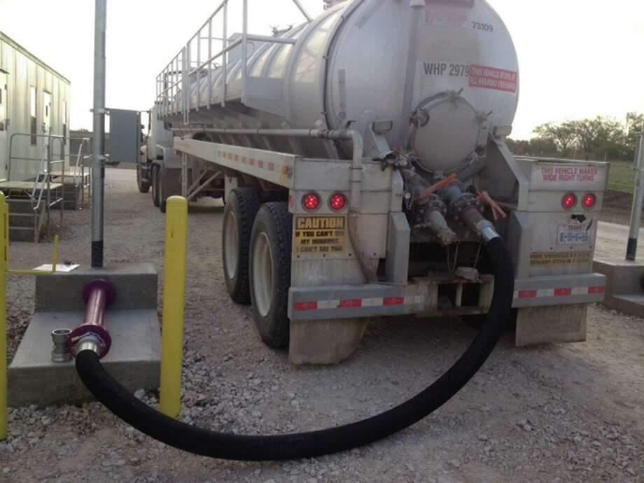 The Bryan-based Alpha Reclaim Technologies recently opened a facility in Karnes City. The company sells treated effluent water for oil field operations. Photo: Alpha Reclaim Technologies
