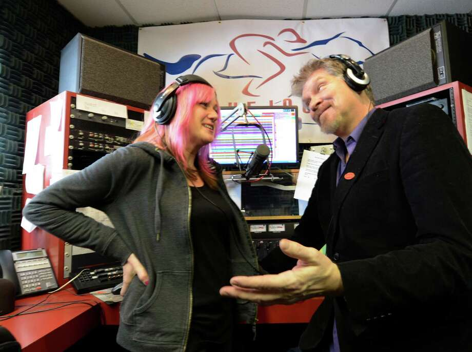 On-air personalities Heide Kelly, left and Walt Adams of Empire Broadcasting  in one of the control rooms March 4, 2013 of their headquarters in Malta, N.Y.  (Skip Dickstein/Times Union) Photo: SKIP DICKSTEIN / 10021382A