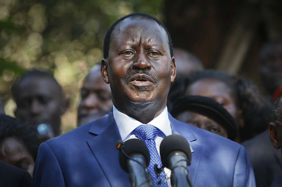 Raila Odinga appeals for calm as he pledges to dispute results. Photo: Sayyid Azim, Associated Press