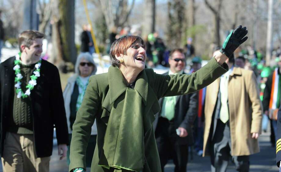 U.S. Rep. Rosa DeLauro marches in the annual St. Patrick's Day Parade through downtown Milford, Conn. Saturday, Mar. 9, 2013. Photo: Autumn Driscoll / Connecticut Post