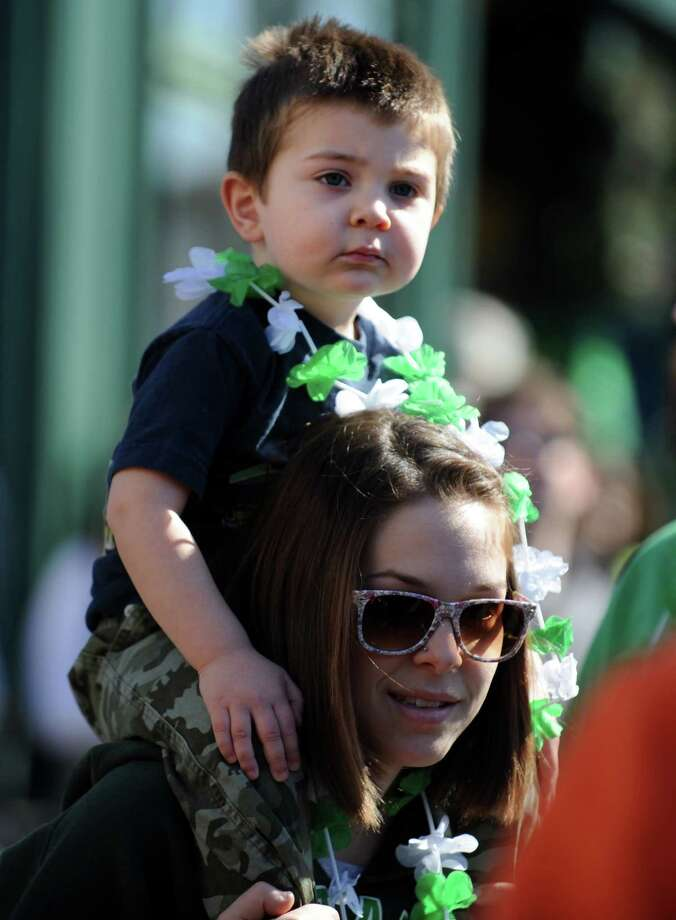 The annual St. Patrick's Day Parade moves through downtown Milford, Conn. Saturday, Mar. 9, 2013. Photo: Autumn Driscoll / Connecticut Post