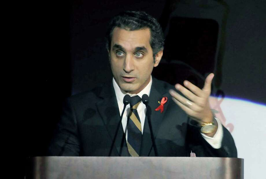 TV host Bassem Youssef is being investigated in Egypt for allegedly insulting the nation's president. Photo: Ahmed Omar, STR / AP
