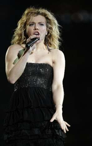 The Band Perry performs at RodeoHouston in Reliant Stadium Saturday, March 9, 2013, in Houston. ( Melissa Phillip / Houston Chronicle )