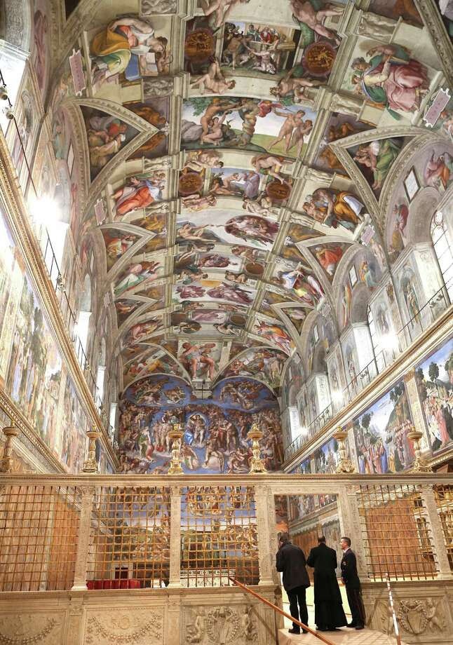 """The Sistine Chapel has been outfitted with equipment to ensure secrecy for the conclave, a process that Father Federico Lombardi said could take a few days """"without much difficulty."""" Photo: Photos By Franco Origlia / Getty Images"""