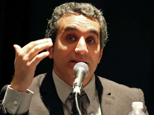 "Bassem Youssef, host of ""Al Bernameg"" or ""The Program"" speaks at the Austin Convention Center during South by Southwest Saturday March 9, 2013 in Austin, TX. Photo: Edward A. Ornelas, San Antonio Express-News / © 2013 San Antonio Express-News"