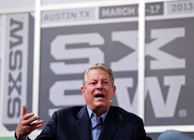 Former Vice President Al Gore speaks during South by Southwest at the Austin Convention Center Saturday March 9, 2013 in Austin, TX. Photo: Edward A. Ornelas, San Antonio Express-News / © 2013 San Antonio Express-News