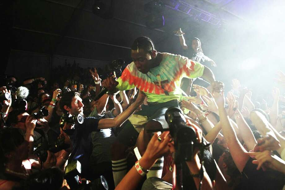 2011: Tyler the Creator of Odd Future performs a surprise set. Photo: Roger Kisby, Getty Images / 2011 Roger Kisby
