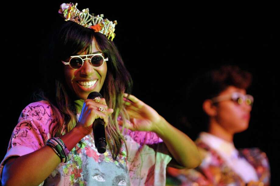 2012: Santigold performs onstage. Photo: Jesse Knish, WireImage / 2012 Jesse Knish