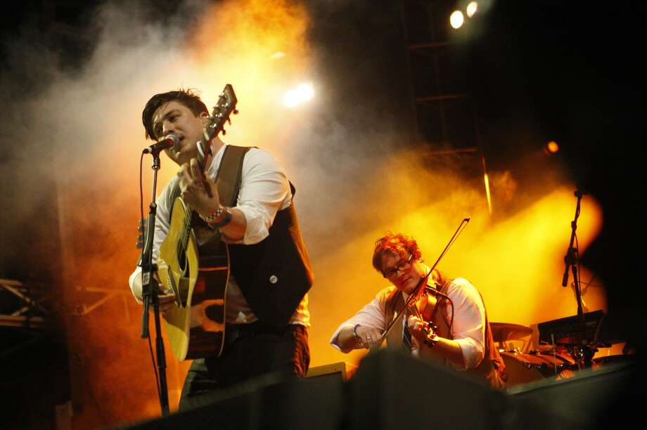 2012: Mumford and Sons perform during a joint free concert with Edward Sharpe and the Magnetic Zeroes. Photo: Kitra Cahana, Getty Images / 2012 Kitra Cahana