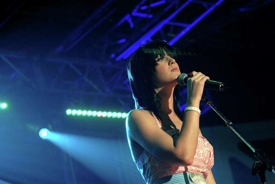 2008: Katy Perry performs. Photo: Sasha Haagensen, Getty Images For DirecTV / 2008 Getty Images