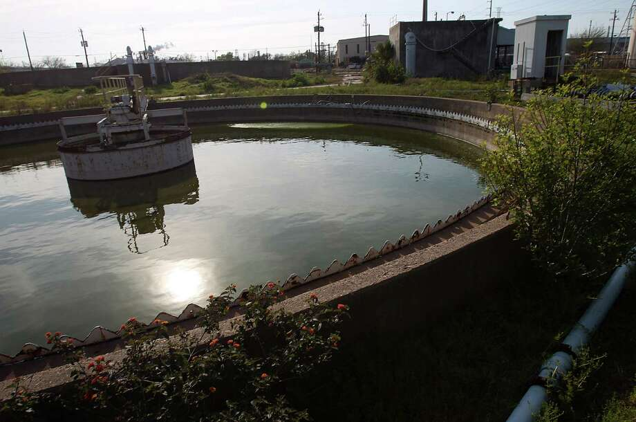 "A former Pasadena water station was sold to a businessman who conducted fraudulent ""oil recycling"" business and left a huge superfund site on Thursday, March 7, 2013, in Pasadena. Photo: Mayra Beltran, Houston Chronicle / © 2013 Houston Chronicle"