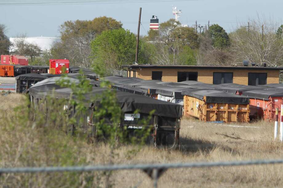 "Hazardous materials abandoned by a businessman who conducted fraudulent ""oil recycling"" business left a huge superfund site in Pasadena on Thursday, March 7, 2013, in Pasadena.  The businessman has skipped town. Photo: Mayra Beltran, Houston Chronicle / © 2013 Houston Chronicle"