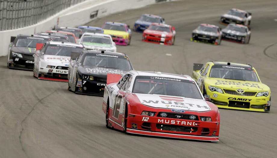 Sam Hornish Jr. comes out of Turn 4 en route to his victory in the Sam's Town 300, the Nationwide Series race Saturday in Las Vegas. Photo: Julie Jacobson / Associated Press