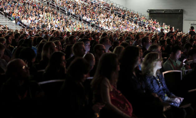 Crowds listen to former Vice President Al Gore speak at the Austin Convention Center during South by Southwest Saturday March 9, 2013 in Austin, TX. Photo: Edward A. Ornelas, San Antonio Express-News / © 2013 San Antonio Express-News