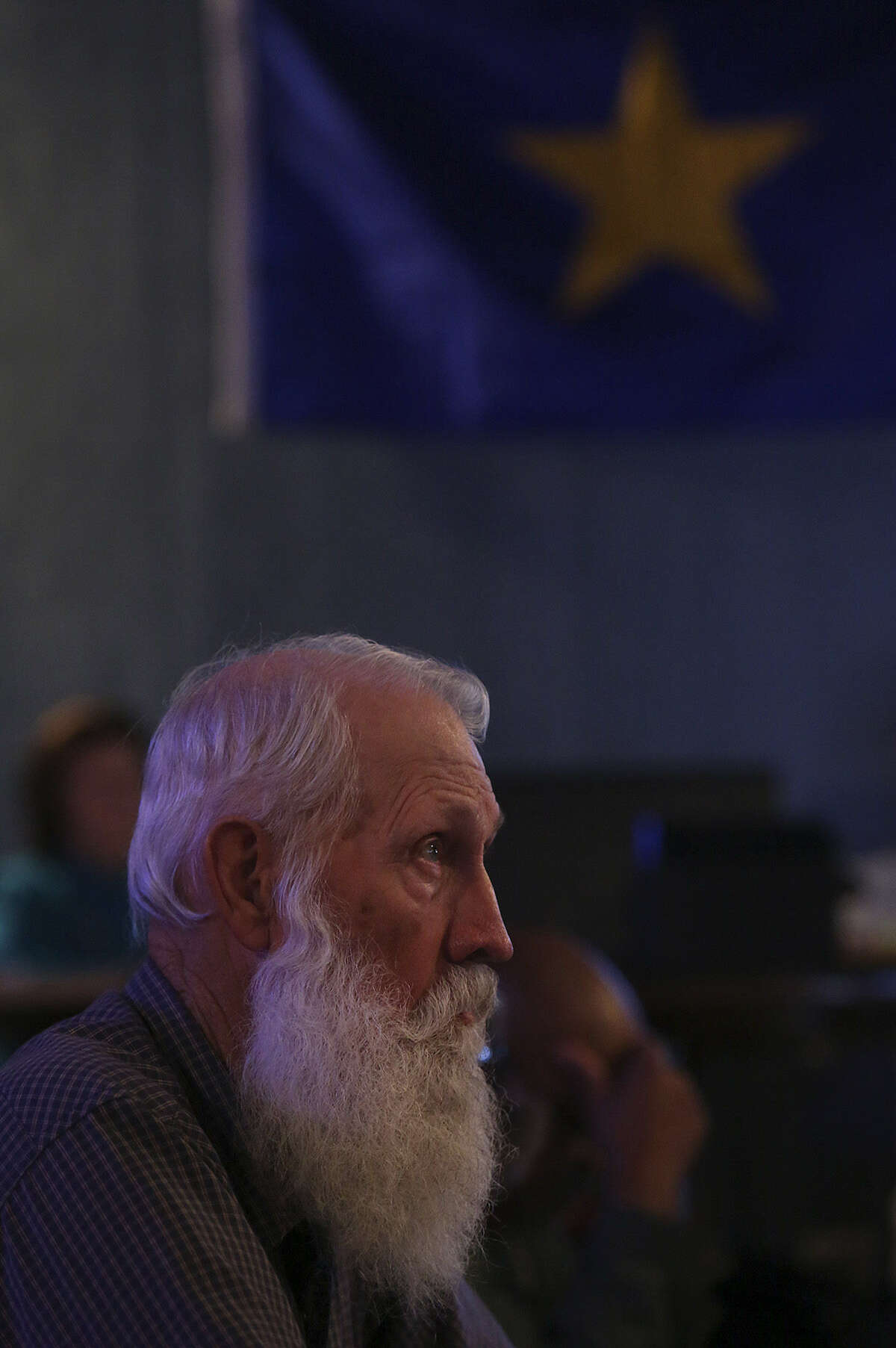 D.A. West of Victoria attends a monthly republic meeting.