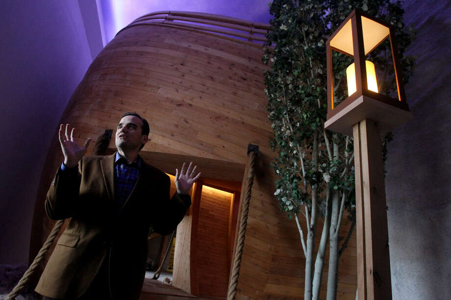 "Cornerstone Church Executive Pastor Matthew Hagee said the church's new Ark children's building aims to underscore the Bible's authenticity. ""I want them to say it happened,"" he said. Photo: Photos By John Davenport / San Antonio Express-News"
