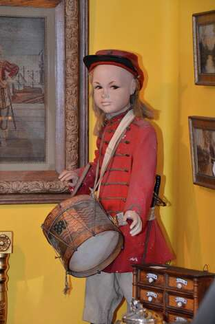 A drummer boy from an antique toy collection was showcased by Appleton Manor Gallery on Saturday, March 2, 2013, at the 46th Annual Darien Antiques Show in Darien, Conn. Photo: Jeanna Petersen Shepard / Darien News freelance Jeanna Petersen Shepard