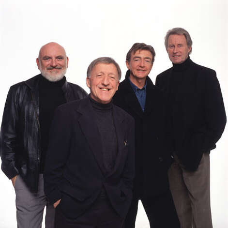 The Chieftains, featuring Kevin Conneff, left, Paddy Moloney and Matt Molloy, perform Tuesday, March 12, at the Palace Theatre in Stamford. Photo: Contributed