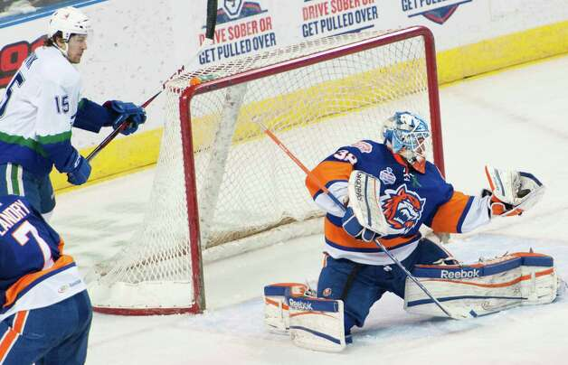 The Bridgeport Sound Tigers will take on the Springfield Falcons at 7 p.m. Tuesay, March 12, at Webster Bank Arena in Brigeport. Photo: Mark Conrad / Connecticut Post