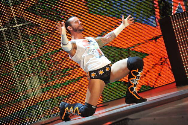 CM Punk will be among the wrestlers stepping into the ring Friday, March 15, at Webster Bank Arena in Bridgeport for WWE Presents Raw: Road to Wrestlemania. The show starts at 7:30. Photo: Moses Robinson, Getty Images / Getty
