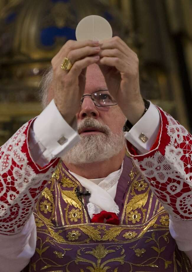 U.S. Cardinal Sean O'Malley celebrates Mass in Rome's Church of Santa Maria alla Vittoria. Photo: Domenico Stinellis, Associated Press