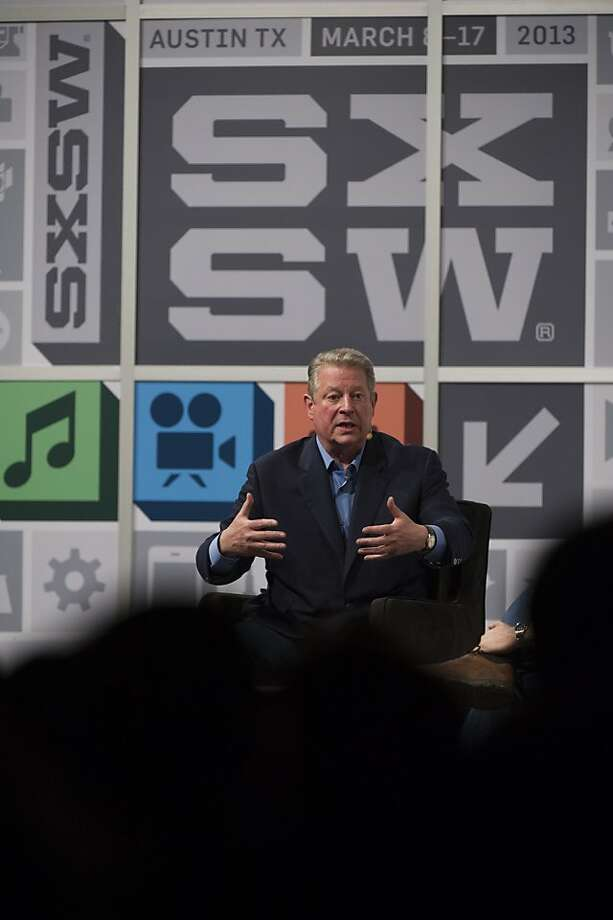 """Al Gore discusses his latest book, """"The Future: Six Drivers of Global Change,"""" on Saturday in Austin, Texas. Photo: David Paul Morris, Bloomberg"""