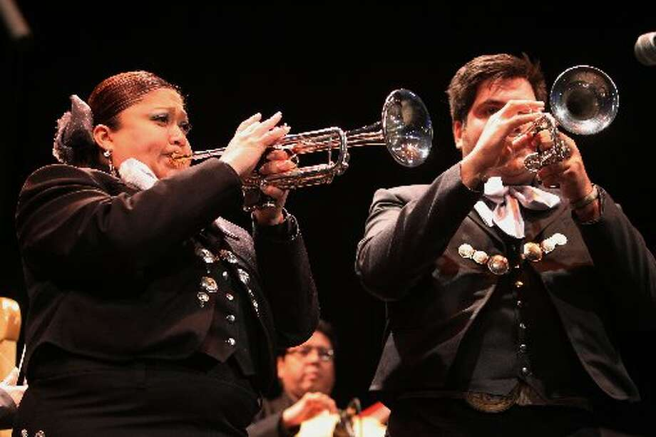 The mariachi competition continues at Go Tejano Day.
