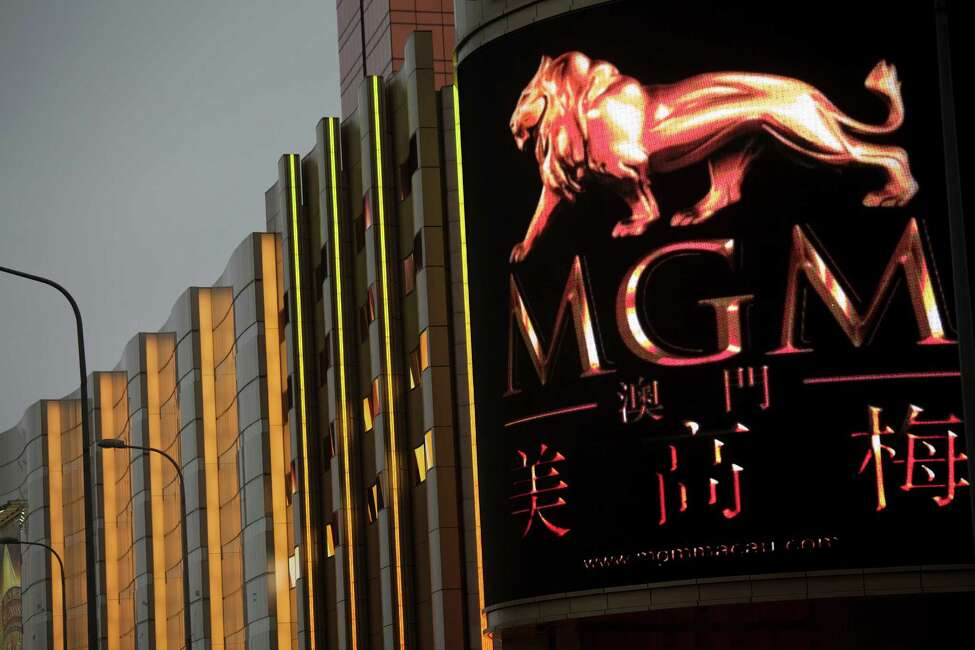 The MGM Macau casino resort stands in Macau, China, on Friday, Feb. 24, 2012. Casino gambling revenue in the city surged 42 percent to 268 billion patacas ($33.5 billion) in 2011, government data show. Photographer: Jerome Favre/Bloomberg