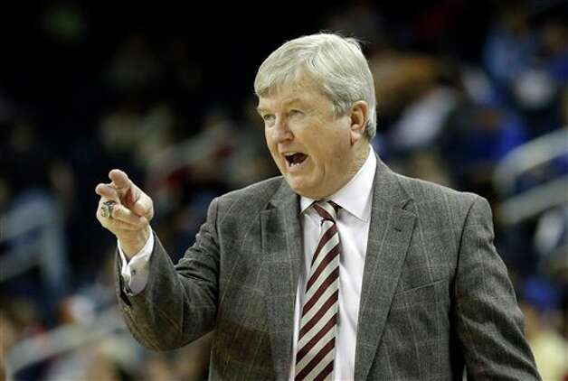 Texas A&M coach Gary Blair coaches from the sideline during the first half of an NCAA college basketball game against Kentucky in the championship of the Southeastern Conference tournament, Sunday, March 10, 2013, in Duluth, Ga. (AP Photo/John Bazemore) Photo: John Bazemore, Associated Press / AP