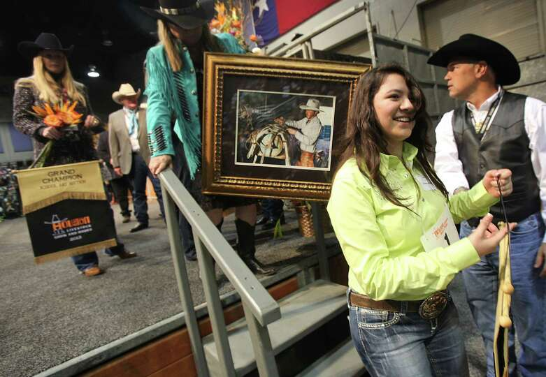 The Grand Champion Best of Show Denisse Molina, of Pasadena ISD, smiles after her piece