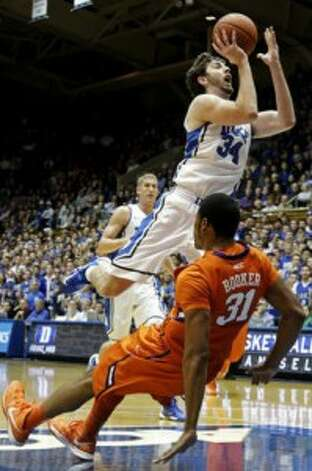 Ryan Kelly has been Duke's X-factor, making the Blue Devils the ACC tournament favorites (AP).