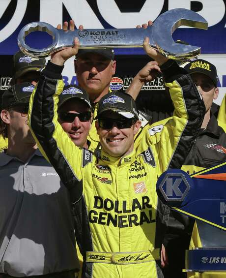 Driver Matt Kenseth had two reasons for celebrating Sunday: his 25th career victory and 41st birthday. Photo: Julie Jacobson / Associated Press