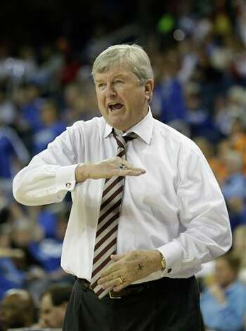 Texas A&M  head coach Gary Blair is shown during the first half of their  NCAA college basketball game against the Kentucky in the finals of the Southeastern Conference tournament, Sunday, March 10, 2013, in Duluth, Ga.  (AP Photo/John Bazemore) Photo: John Bazemore, Associated Press / AP