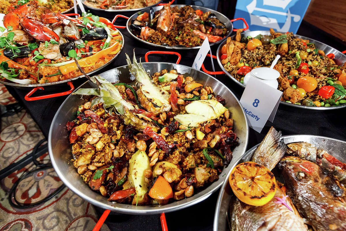 Entries in the contemporary paella division during the 2013 Corona Paella Challenge.
