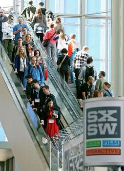 Crowds attend South by Southwest at the Austin Convention Center Sunday March 10, 2013 in Austin, TX. Photo: Edward A. Ornelas, San Antonio Express-News / © 2013 San Antonio Express-News